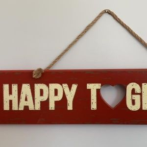 Distressed Farmhouse Happy Together Wood Sign